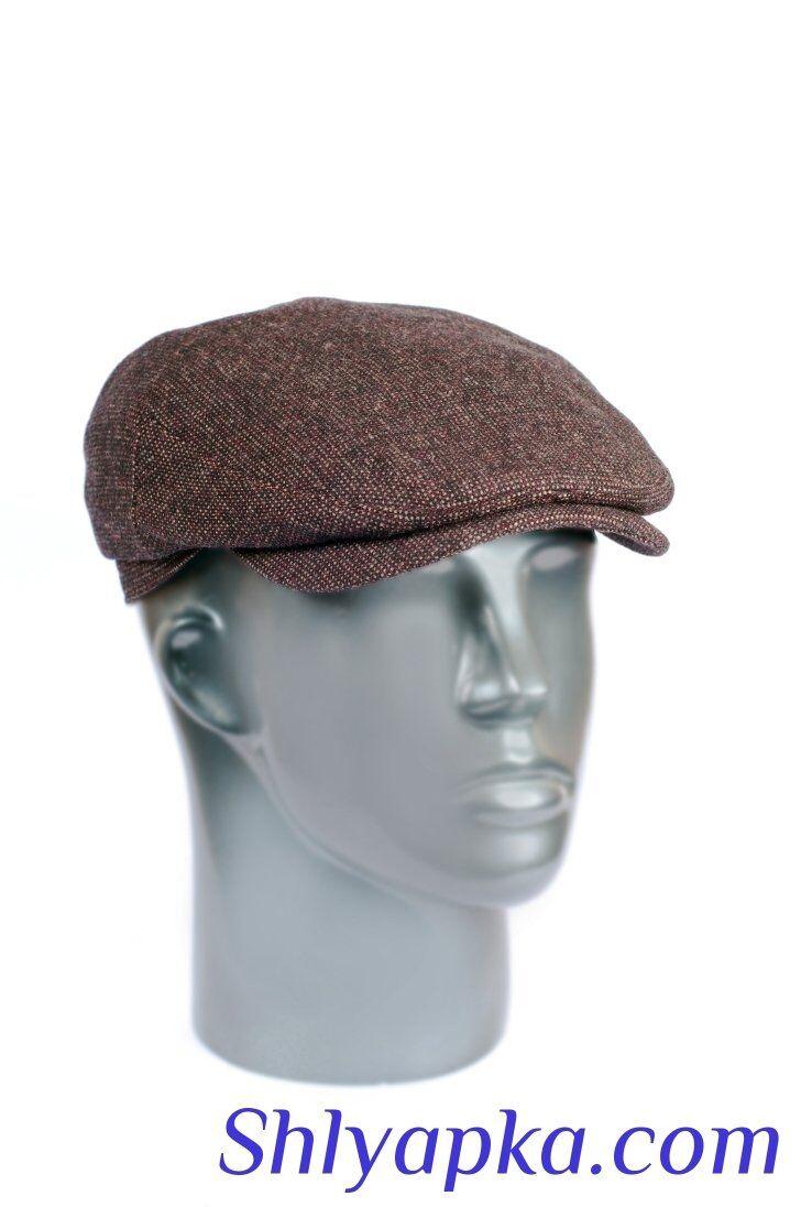 Кепка мужская из ткани коричневаяизображение