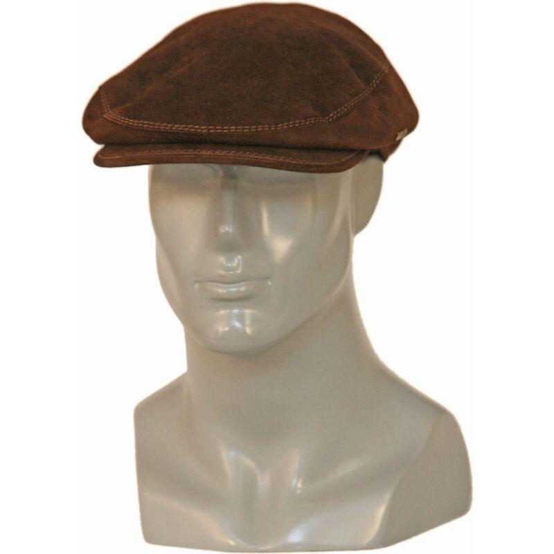 Кепка замшевая мужская коричневаяизображение