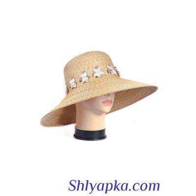 Шляпа женская из натуральной соломы