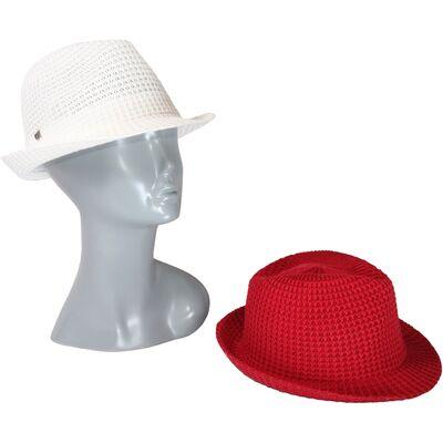 Шляпа летняя вязаная