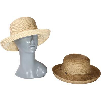 Шляпа женская с поднятыми полями
