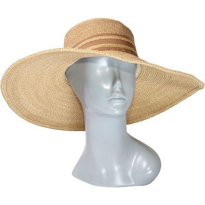 Шляпа мягкая с большими полями коричневая