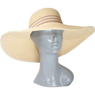 Шляпа мягкая с большими полями бежевая
