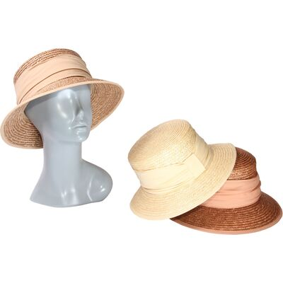 Шляпа летняя из натуральной соломы