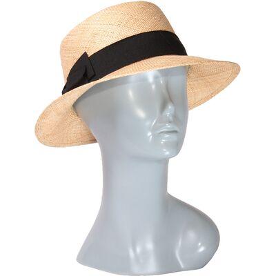 Шляпа соломенная с темной лентой