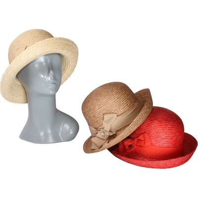 Шляпа из соломы женская с поднятыми полями