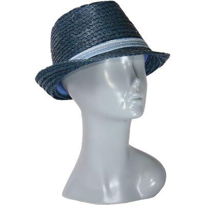 Шляпа синяя из соломы