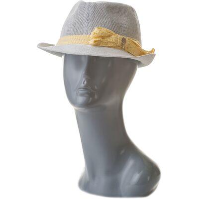 Шляпа летняя женская трилби белая