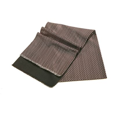 Шарф мужской серый шелковый