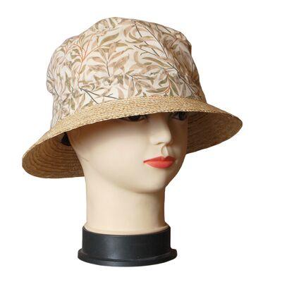 Шляпа тканевая с соломенными полями