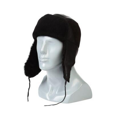 Ушанка мужская черная