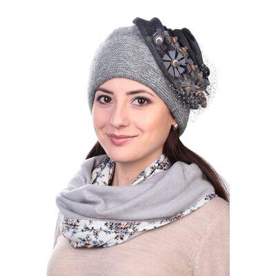 Шапка зимняя с вуалью