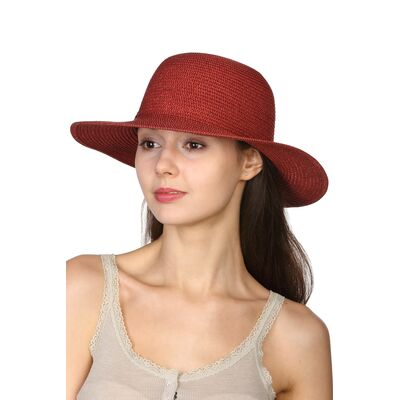 Шляпа из натурального волокна красная