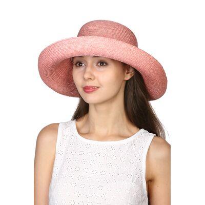 Шляпа из натуральной соломы розовая