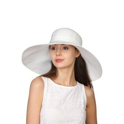 Шляпа белая с большими полями