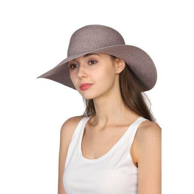 Шляпа женская серая с розовым