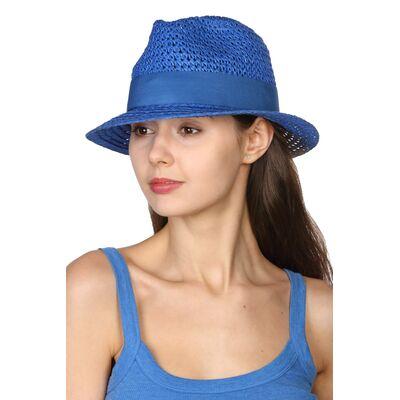 """Шляпа """"трилби"""" синяя"""