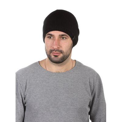 Шапка трикотажная мужская черная