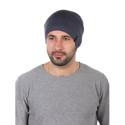 Шапка трикотажная мужская синяя