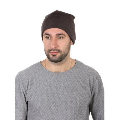 Шапка мужская демисезонная коричневая