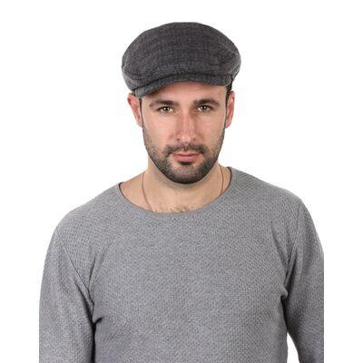Кепка мужская комбинированная с замшей серая