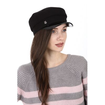 Капитанка женская из драпа черная
