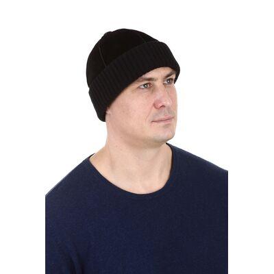 Шапка мужская замшевая черная