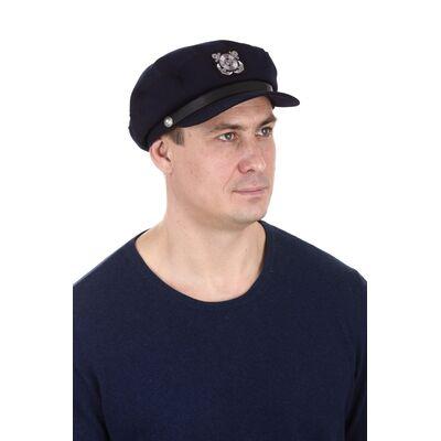 Капитанка мужская синяя с эмблемой