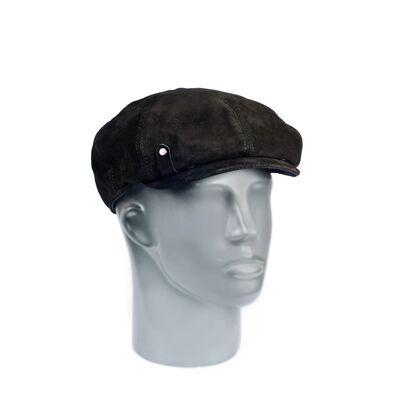 Мужская кепка-восьмиклинка из натуральной замши