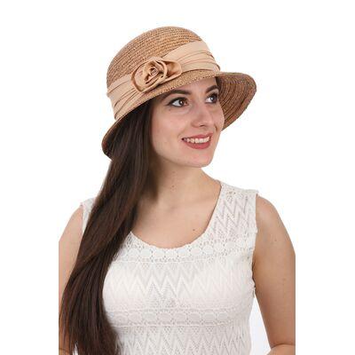 Шляпа соломенная классическая коричневая