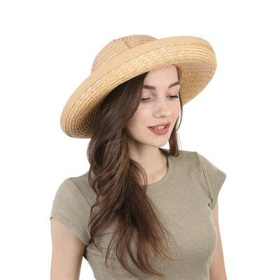 Шляпа соломенная с тканевой тульей