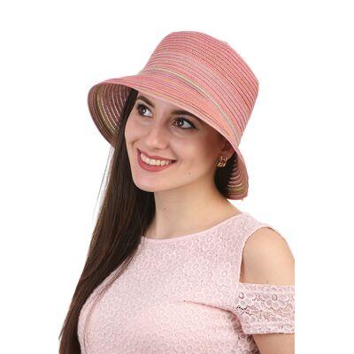 Панама женская с малыми полями розовая