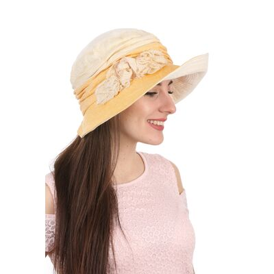 Шляпа тканевая желтая