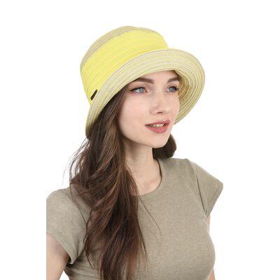 Панама  женская желтая
