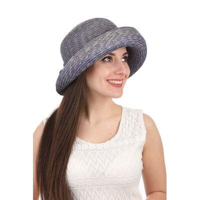 Шляпа с поднятыми полями цвета синяя