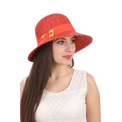 Шляпа соломенная женская классическая красная