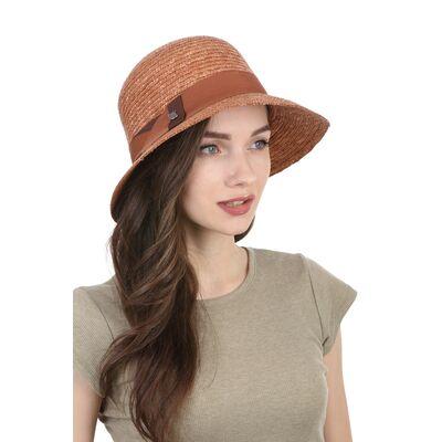 Шляпа соломенная женская классическая терракот