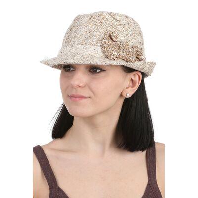 Шляпа трилби женская трикотажная