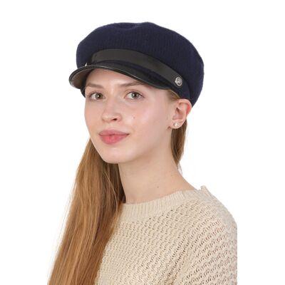 Кепка капитанка женская синяя