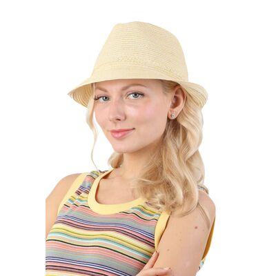 Шляпа трилби желтая