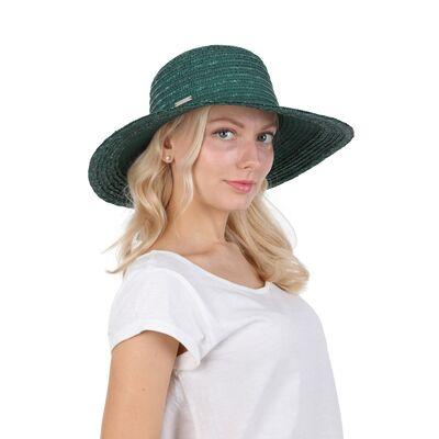 Шляпа соломенная с большими полями зеленая