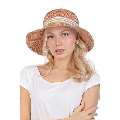 Шляпа с прямыми полями оранжевая