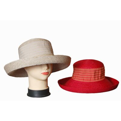 Шляпа соломенная с мягкой тульей