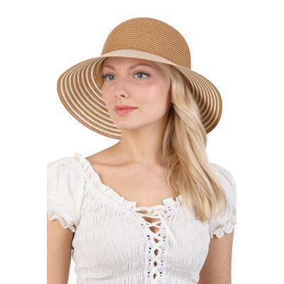 Шляпа бежевая с бантом