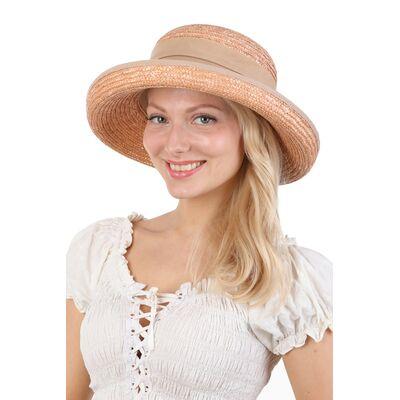 Шляпа коричневая из натуральной соломы