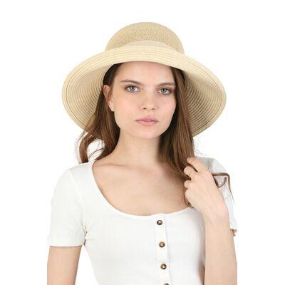Шляпа женская бежевая мягкая