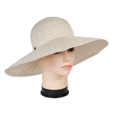 Легкая шляпа с большими полями молочная