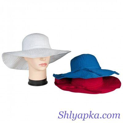 Шляпа летняя с большими полями