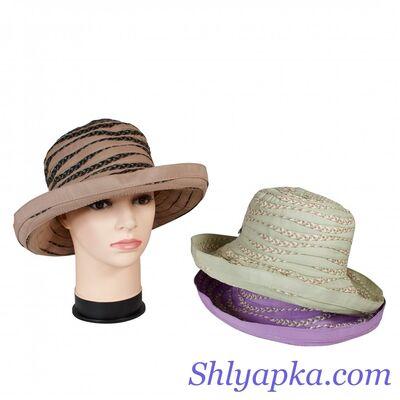 Шляпа тканевая с большими полями