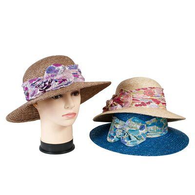 Шляпа соломенная с прямыми полями